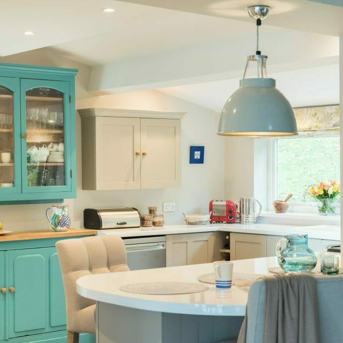 Little Greene Canton Paint Dresser Interior Design in Mylor Bridge