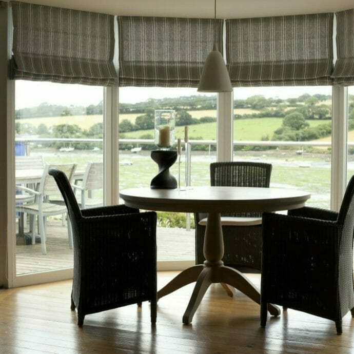 Made to measure blinds in grey linen