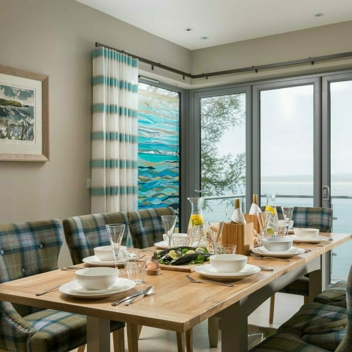 St Ives Sea View Dining Area with Hops and Camellias Furniture