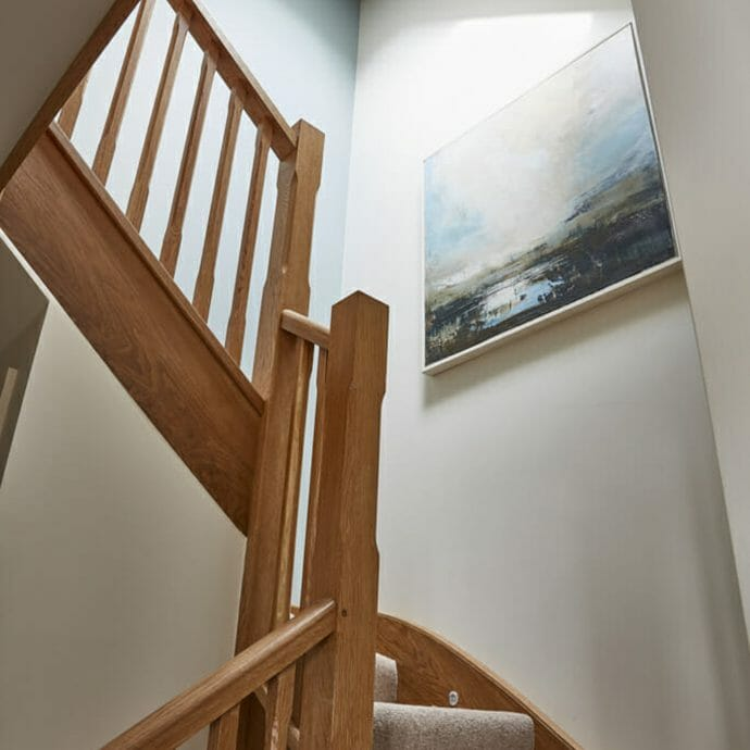 Zoffany Paris Grey Stairwell with Cornish Artwork