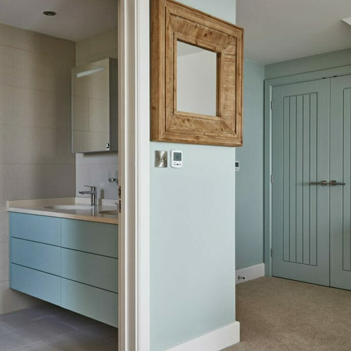 Zoffany Aqua Walls Holiday Home Refurbishment.