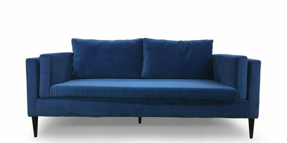 Delabole Cobalt Blue Sofa Bespoke