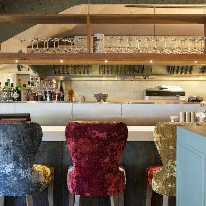 Restaurant Interior Design Bespoke Bar Stools Hooked on the Rocks