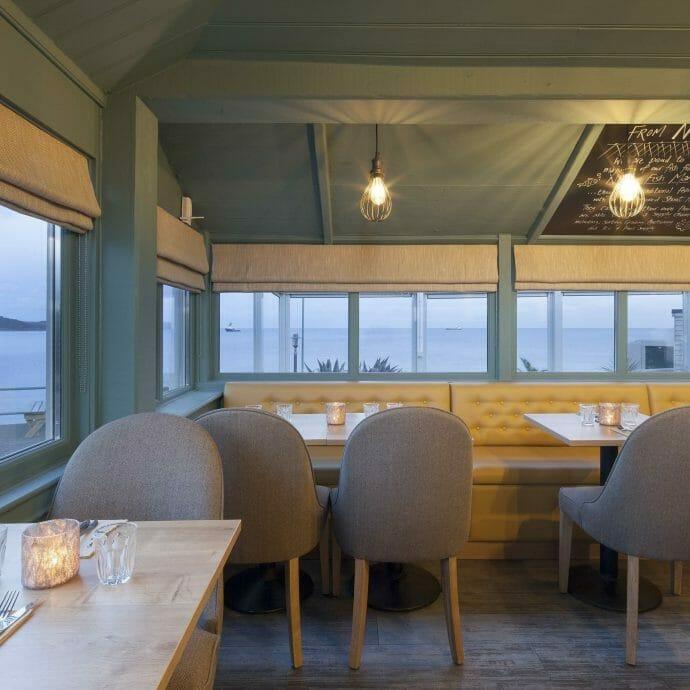 Restaurant Interior Design Little Greene Paint Bespoke Roman Blinds
